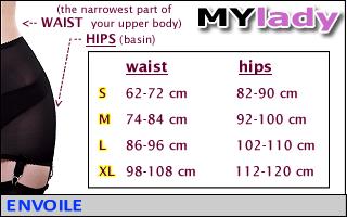 envoile mylady shapewear size table