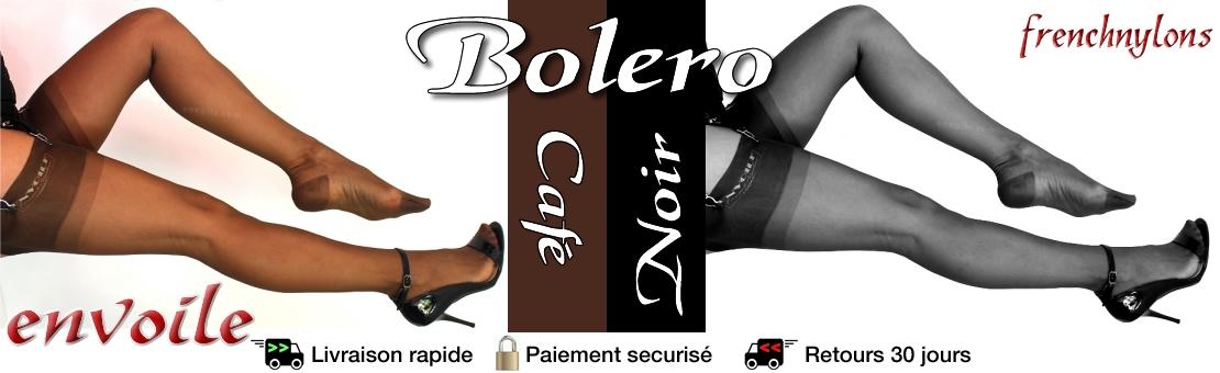 Bas nylon Envoile Bolero Café et Noir